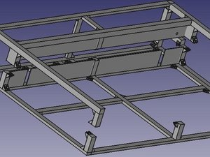 How to build the OSE Lasersaur Outer Frame