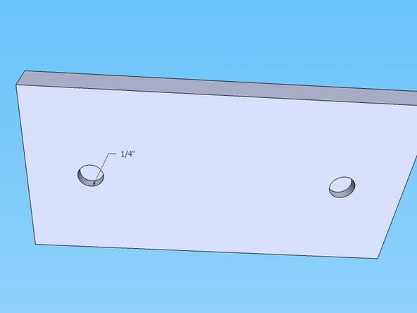 """Plug weld the threaded rod into the upper press plate, so that the threaded rod is about 1/4"""" deep in the plate."""