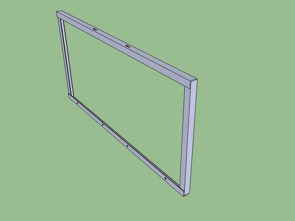 Weld the angle together to make the frame. The short pieces are sandwiched between the long pieces. See the diagram.
