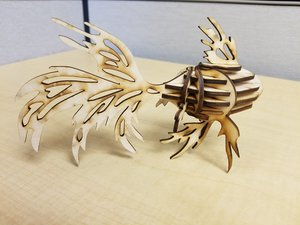 Betta Fish Puzzle - transferring 3D print file to laser cut file