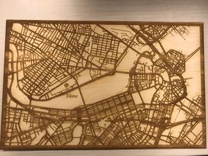 How to Make a Laser etched map