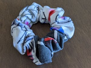 Hand-sewn Scrunchie from an Up-cycled T -shirt