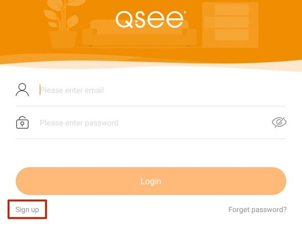 Before you may use the Q-See Plus app you must register, and create an account using your email address.