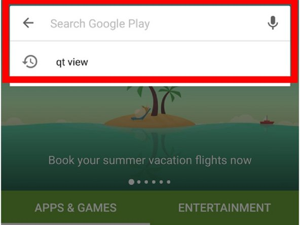 Search for QT View