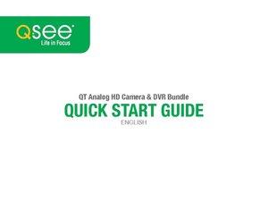 QT Analog HD DVR Quick Start Guide