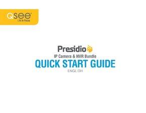 Presidio IP HD NVR Quick Start Guide