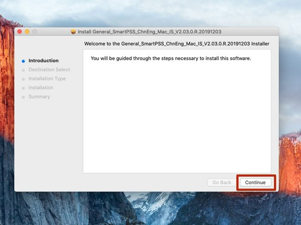 Continue with the Smart PSS Installer