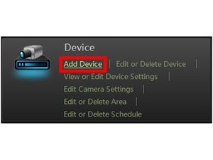 HOW TO ADD A DEVICE