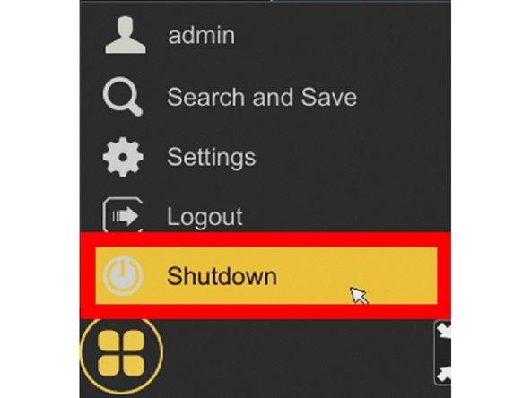 Click Shutdown