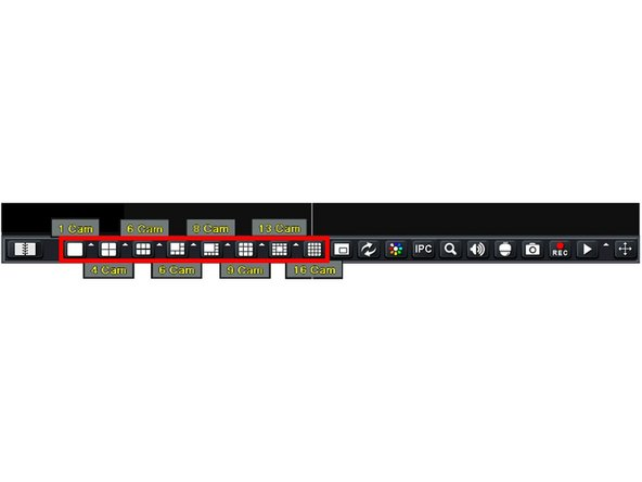 Select the desired Viewing Mode from the menu bar.