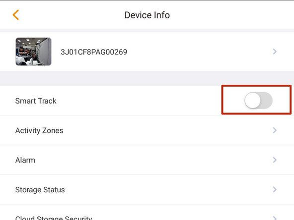 If Smart Track is supported by your device it will appear in the list of settings.