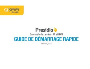 Presidio IP HD NVR (French) Quick Start Guide