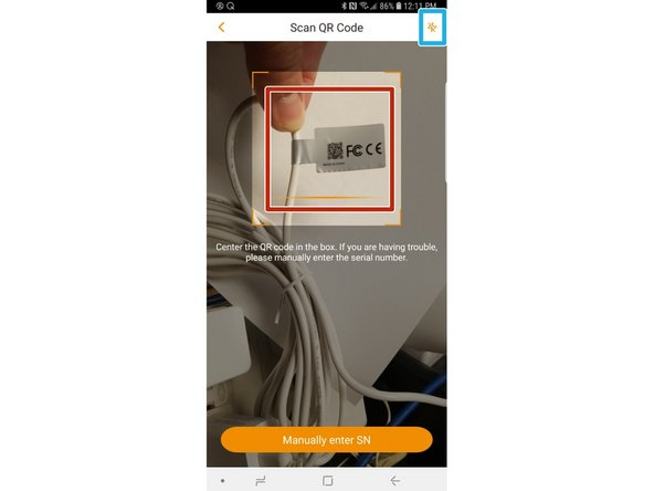 Scan the QR Code on your camera cable.