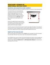 QCN7002D QCN8001D QCN8028D Mounting Instructions / Reset Button Location