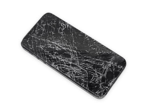 Falls dein Displayglass gesprungen ist, halte die Bruchstelle zusammen und vermeide Verletzungen, indem du das Glas mit Tape versiehst.