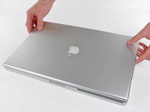 "PowerBook G4 Aluminum 17"" 1.67 GHz (High-Res) Rear Display Bezel Replacement"