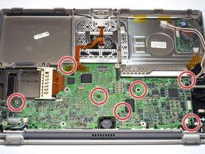 PowerBook G4 Titanium DVI Logic Board Replacement