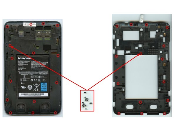 To remove the plastic frame a total of fifteen screws need to be removed using a #00 screw driver.