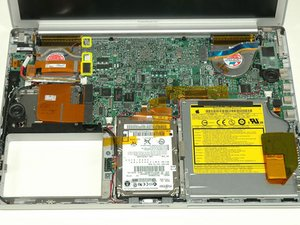 "PowerBook G4 Aluminum 15"" 1.5-1.67 GHz Left Fan Replacement"