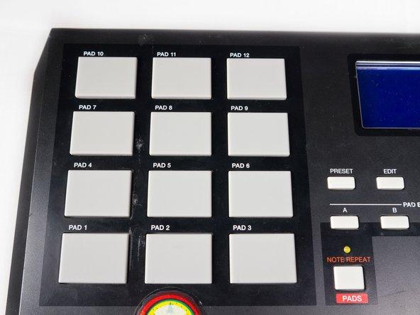 Akai MPK25 Beat Pad Removal
