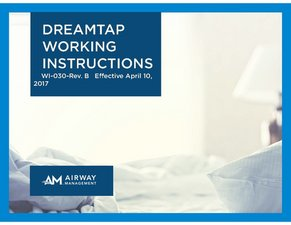 dreamTAP work instructions